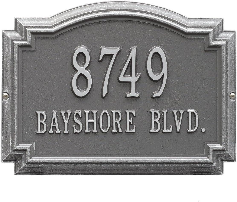 Customized 2 Line Williamsburg Wall Aluminum Address Plaque 14 W X 10 25 H Amazon Com