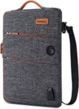 DOMISO 13.3 Inch Waterproof Laptop Sleeve Canvas with USB Charging Port Headphone Hole for 13-13.3 Inch Laptops/MacBook Pro Retina/Dell Inspiron 13 XPS 13 / Asus/Acer / Lenovo/HP, Dark Grey