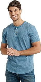 Men's Short Sleeve Slub Henley T Shirt