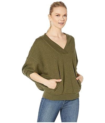 Prana Cozy Up Pullover (Cargo Green Heather) Women