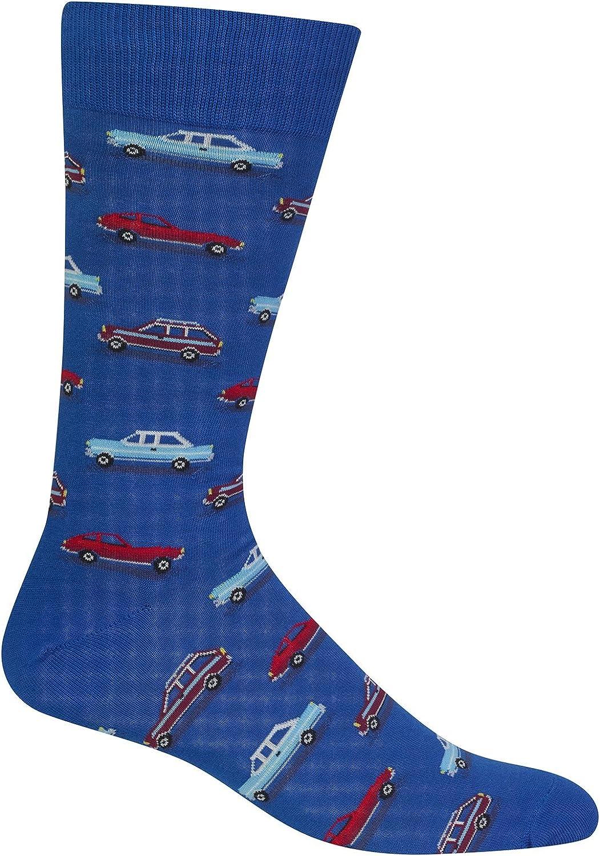 Hot Sox Mens Vintage Cars Crew Socks