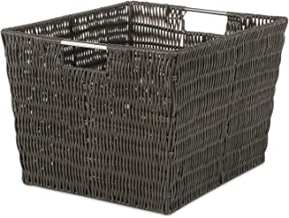 Whitmor Rattique Storage Tote Basket - Espresso
