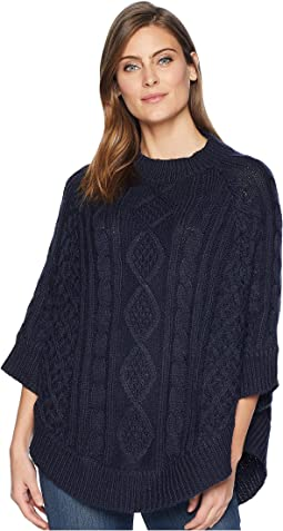 Claudie Chunky Cable Poncho