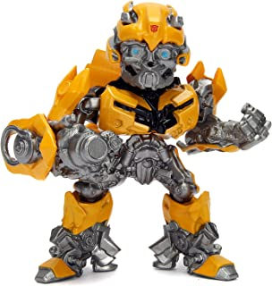 """Metalfigs 99387 Transformers: The Last Knight Bumblebee (M408) Metals Die-Cast Collectible Toy Figure, 4"""", Yellow"""