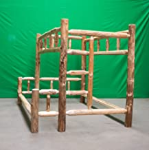 Midwest Log Furniture - Rustic Log Bunkbed - Twin Over Queen