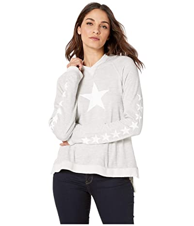 Hard Tail Raglan Hoodie (Heather/White Stars) Women
