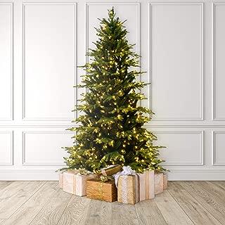 Martha Stewart Natural Pine Pre-Lit Artificial Christmas Tree, 6.5 Feet, Clear Lights