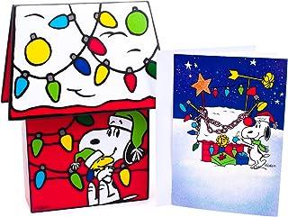 Hallmark 假日盒装卡 Snoopy Dog House Snoopy Dog House