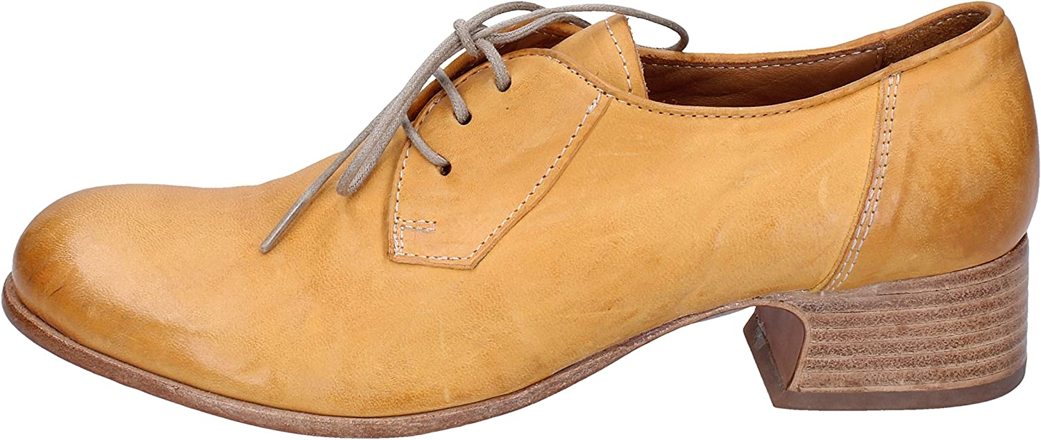 MOMA Oxfords-shoes Womens Leather Yellow