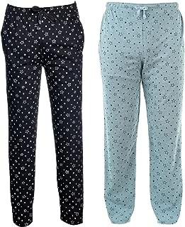 VIMAL JONNEY Cotton Blended Trackpants for Men's(Pack of 2)-D1-1PRTMLG-1PRTBLK-P