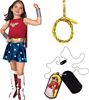 DC Comics Girl's Wonder Woman Costume Bundle, Medium