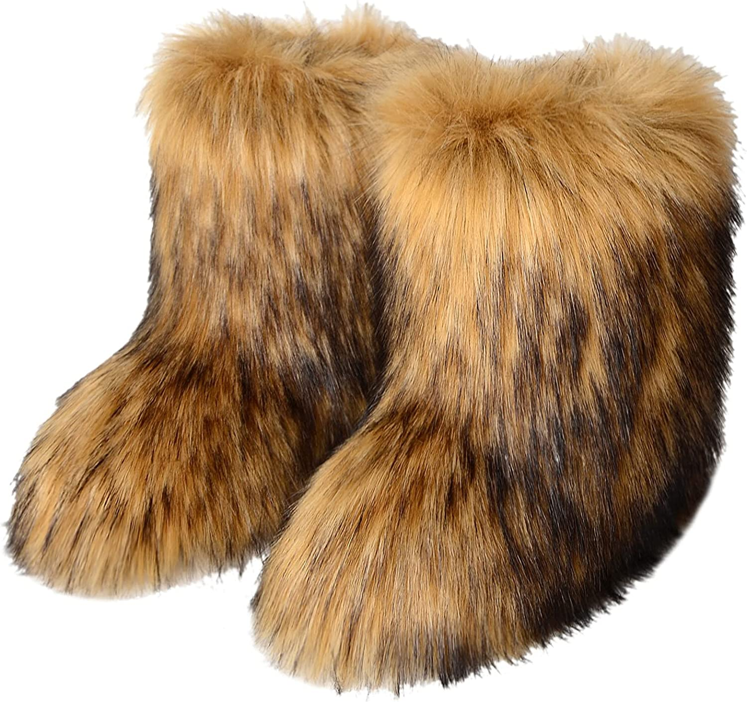 2021 model discount Faux Fur Fluffy Boots for Women Outdoor