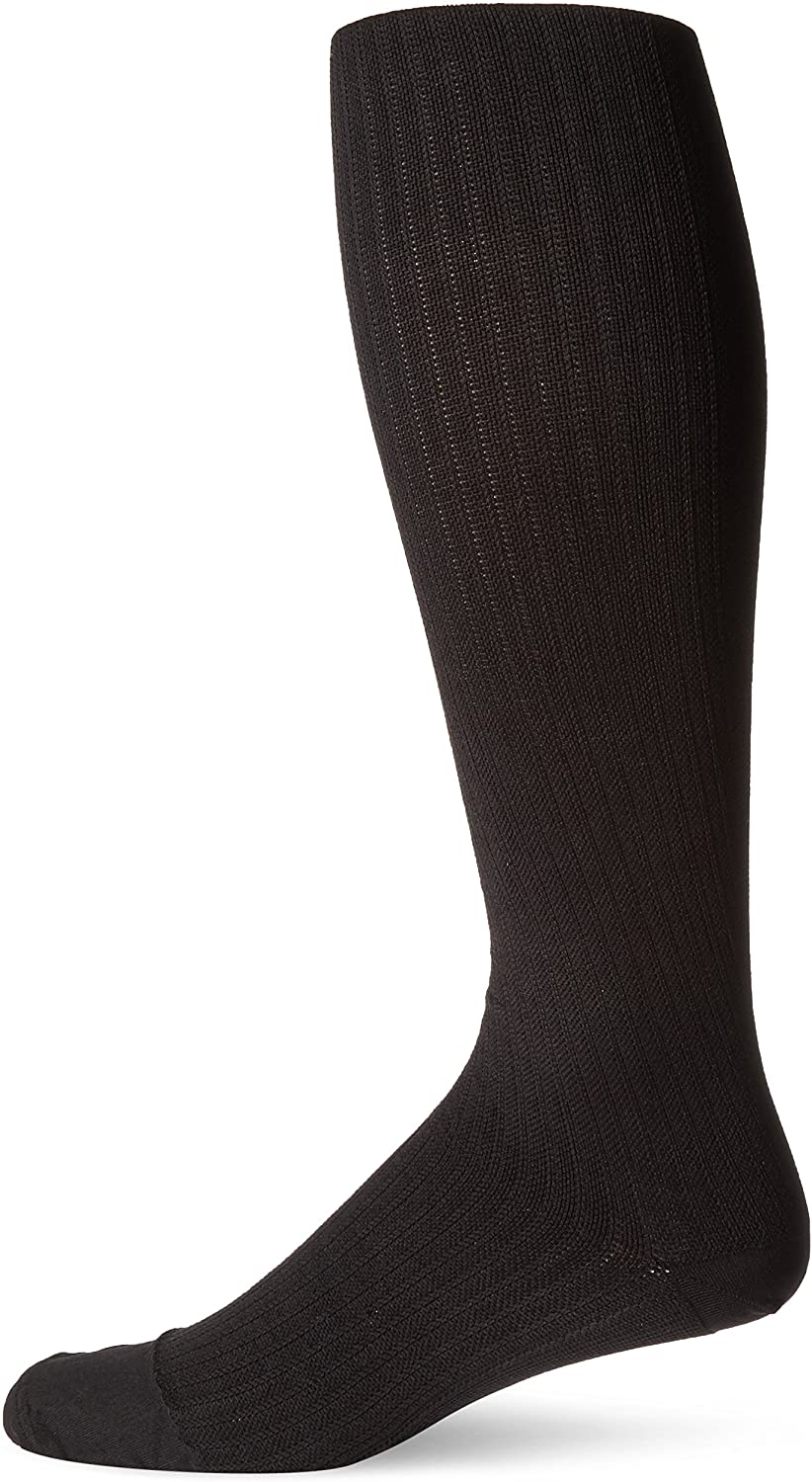 JOBST Mens Dress Knee High Closed Toe Compression Stockings, Professional Quality, Stylish Legware for All Day Comfort, with Elegant Rib Design, Compression Class- 8-15