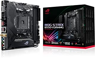 ROG Strix B550-I GAMING Motherboard, AMD AM4 (3rd Gen Ryzen Mini-ITX SFF), PCIe 4.0, WiFi 6, 2.5Gb LAN, DDR4 5100+ (O.C.),...