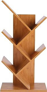 Homebi 5-Shelf Bookshelf Tree Bookcase Wood Bookshelves Storage Rack MDF Tree Shelf Display Organizer for Books,Magazines,CDs and Photo Album Holds Up to 5kgs Per Shelf,15.75