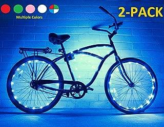 Bike Wheel / Lights (2 PACK)- Colorful Light Accessory For Bike - Perfect For Burning Man / Festivals (Blue)