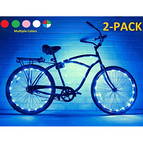 402433421b3 GlowRiders (2 Pack Ultra Bright LED - Bike Wheel Light String - Assorted  Colors Bicycle