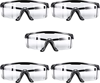 KINTS Safety Glasses, UV Resistant Safety Goggles, Adjustable Temples Design Fit Most People