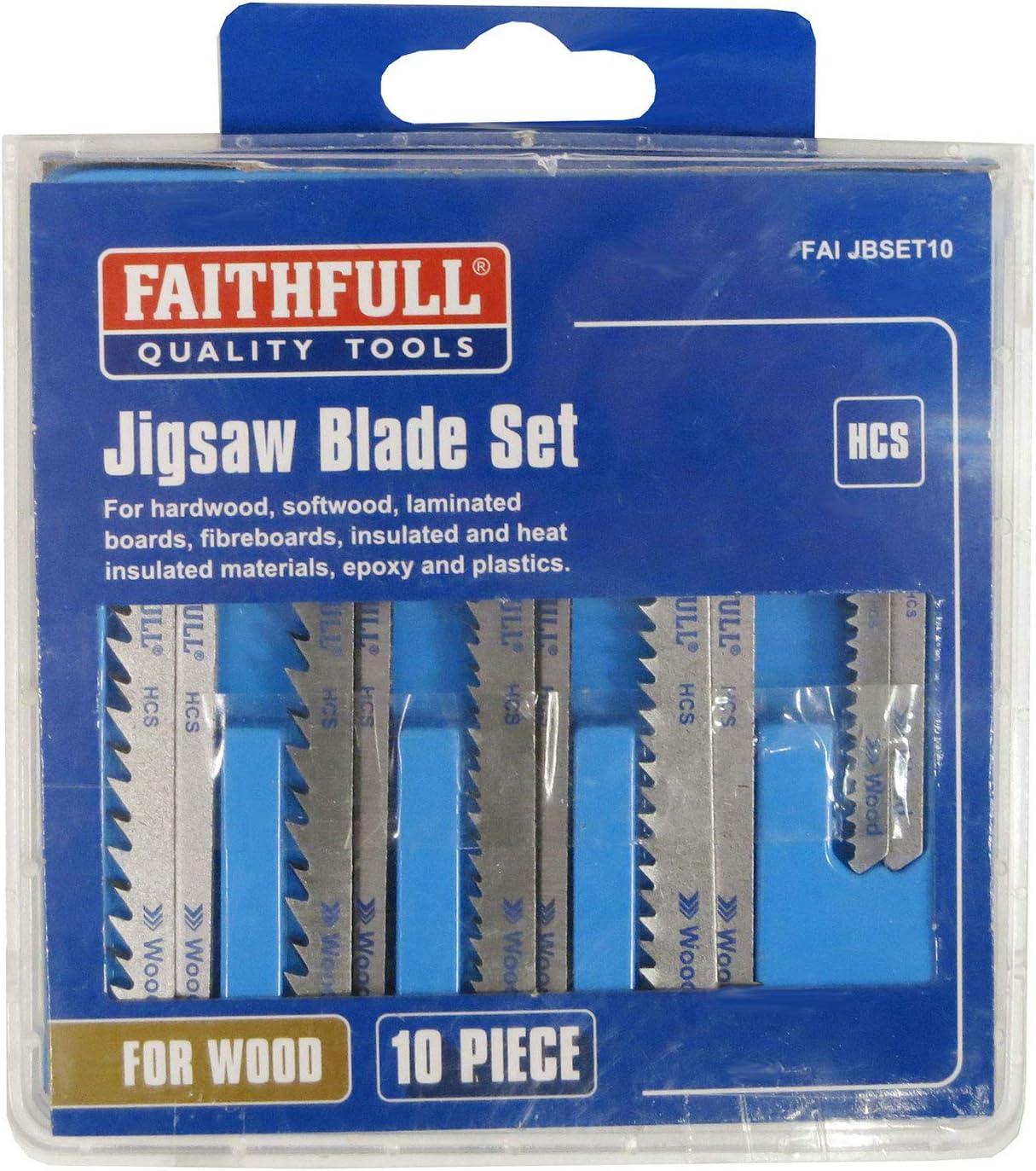 unisex Faithfull Jigsaw Blade Set 10pc Cheap Assorted