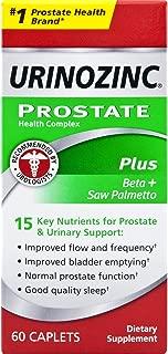 Urinozinc Prostate Plus Health Formula + Beta-Sitosterol, 60 Caplets (30 Day Supply)