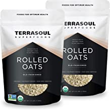 Terrasoul Superfoods Organic Rolled Oats, 5 lbs - Gluten-Free | Old-Fashioned | Whole Grain