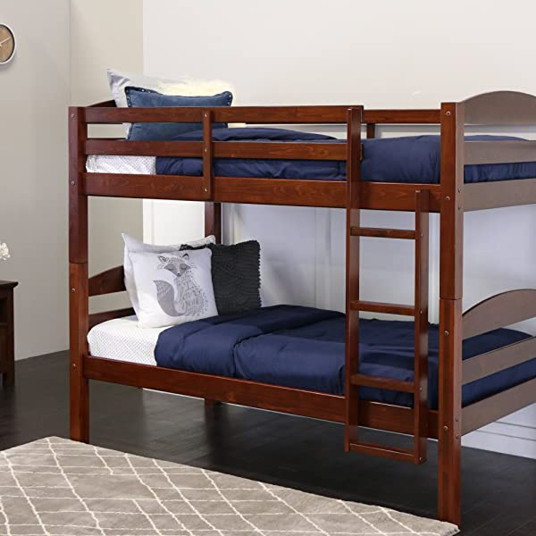 Walker Edison AZWSTOTES Wesley Wood Bunk Bed Twin Espresso