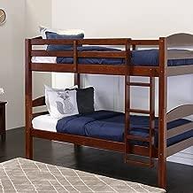 WE Furniture Classic Wood Twin Bunk Kids Bed Bedroom, Espresso Brown