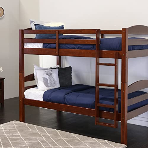 Amazon.com: Walker Edison AZWSTOTES Wesley Wood Bunk Bed Twin