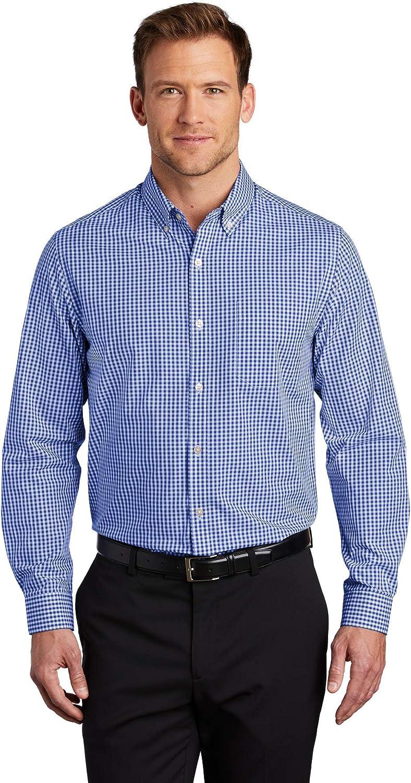 Port Authority Men's Easy Care Shirt, True Royal/White, XXX-Large