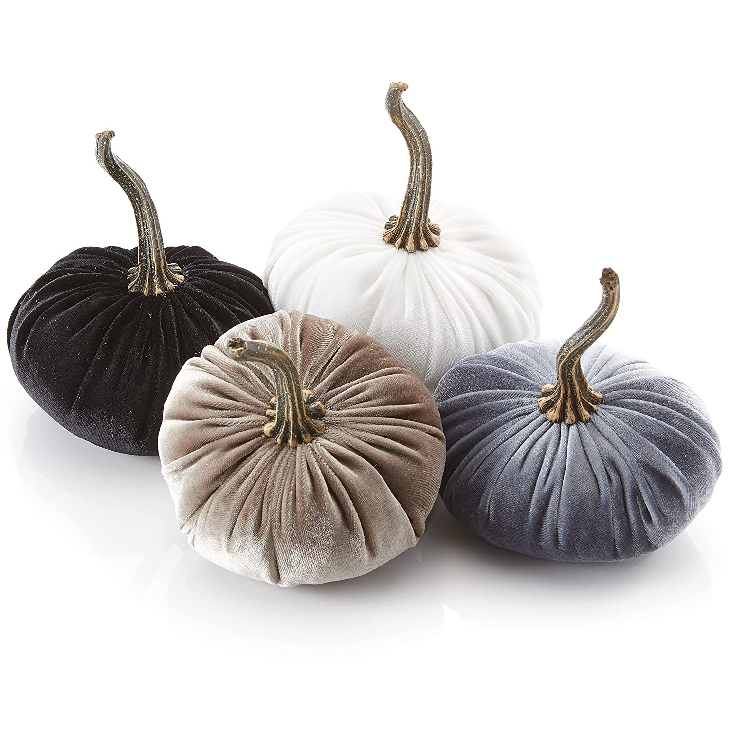 Small Velvet Pumpkins Set of Excellent 4 Fees free!! and Tau Ivory Gray Includes Black