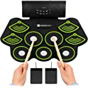 Best Choice Products 9 Pad Roll Up Bluetooth Electric Drum Set