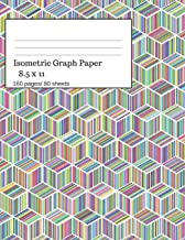 Isometric Graph Paper: Isometric Graph Paper Notebook Ideal for Architecture, Landscaping 3D Designs and Geometry. 8.5x11 Size, 160 Pages/ 80 Sheets. Colorful Theme