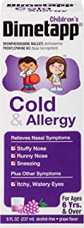 Children's Dimetapp Cold & Allergy (8 fl. oz., Grape Flavor), Nasal Decongestant & Antihistamine, Alcohol-Free, Ages 6+