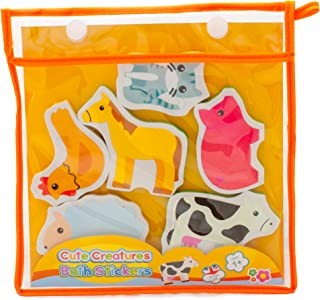 Cute Creatures Chunky Bath Stickers
