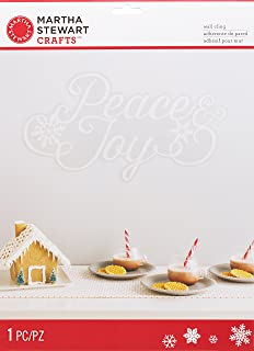 Martha Stewart Crafts Winter Frost Peace and Joy Wall Cling