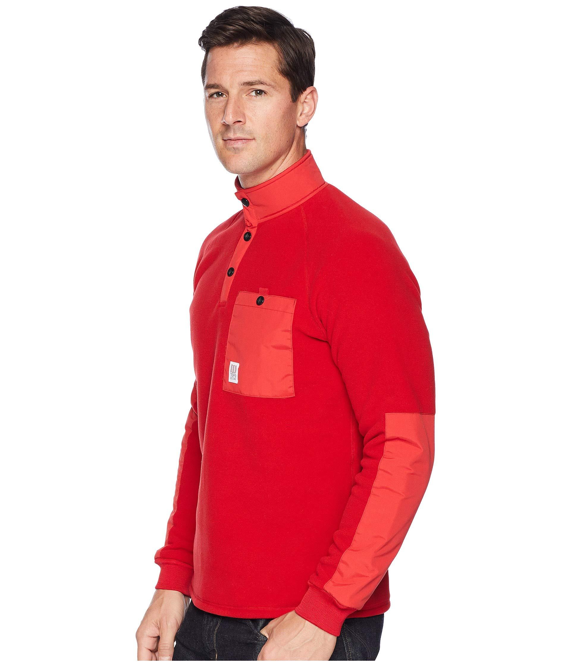 Mountain Topo Mountain Mountain Red Designs Designs Topo Fleece Topo Designs Red Fleece dCw5Fd
