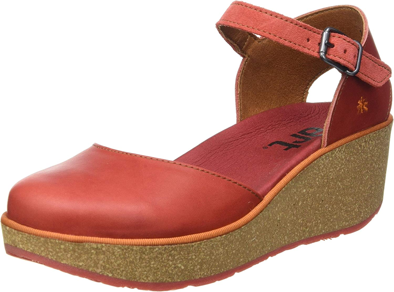 絶品 Art Women's Ankle 販売実績No.1 Wedge Strap Sandal