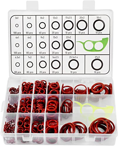 Dreamined - O Ring Silicone Assortment Kit, 18 Sizes, 780 PCS for Automobile, Mechanical Parts, Construction, Electri...