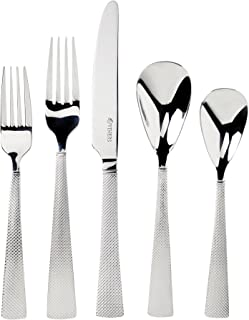 Viners Knightsbridge Pattern 18/10 Stainless Steel Cutlery Set With Gift Box; Classical Textured Handle Detail; Mirror Finish; Perfect Weight and Balance; 20-Piece Set; 4 Place Settings