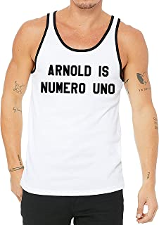 Arnold is Numero Uno Men's Bodybuilding Workout Gym Tank Tops T Shirts