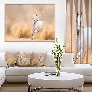 Arabian Horse in Desert Storm Photography Canvas Art Print