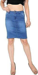 FCK-3 Women's Stretchable Denim Slim Fit Skirt