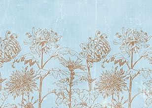 لوحة جدارية كاملة من JP London MDXL91134P مسبقة اللصق غير المنسوجة من الزهور المومياء الحديثة بالحائط الكامل، 30.48 سم عرض...