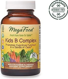 MegaFood, Kids B Complex, Promotes Cognitive Focus and a Sense of Calm, B Vitamin Supplement, Gluten Free, Vegetarian, 30 Tablets (30 Servings) (FFP)