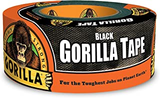 """Gorilla 6001203 6001203-10 Duct Tape, 1.88"""" x 12 yd, Black, (Pack of 1), 1-Pack"""