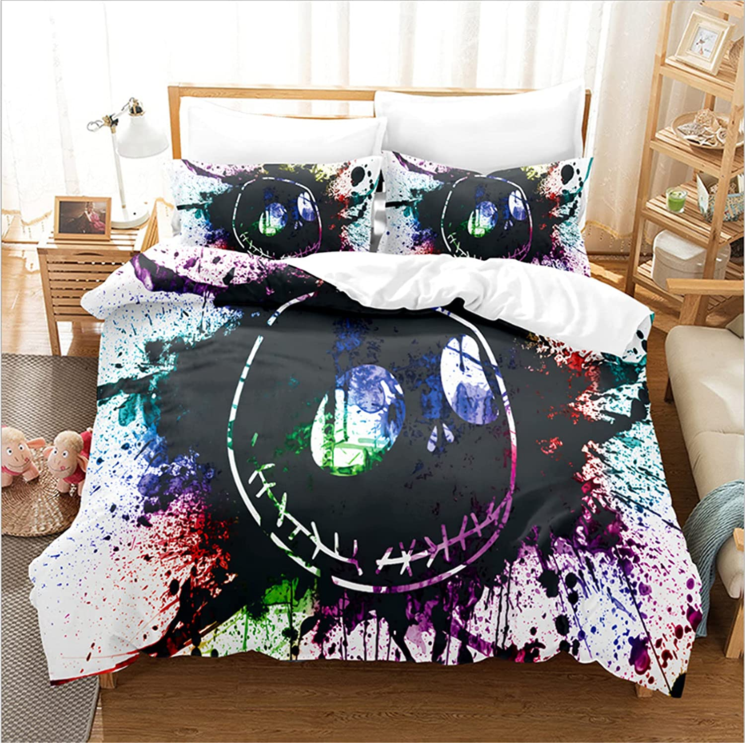 Nightmare Before Christmas Duvet Cover OFFicial site 3 Set Pillowca with 2 Bombing new work Pcs
