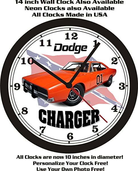 1969 DODGE CHARGER GENERAL LEE WALL CLOCK FREE USA SHIP DUKES OF HAZARD