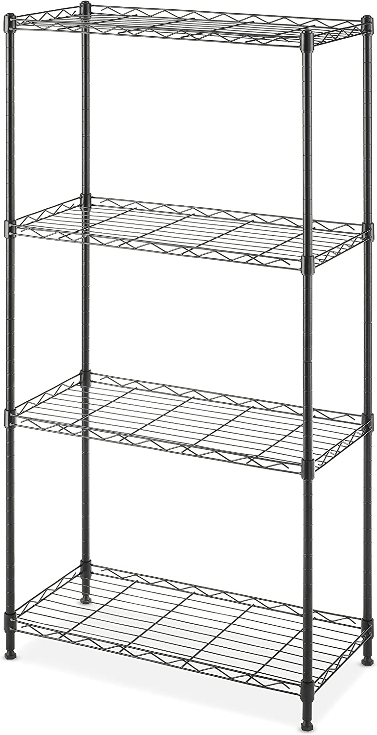 Whitmor Supreme Shelving 4-Tier Black