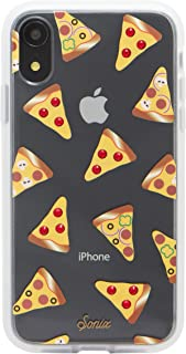 Sonix Slice Up Your Life Case for iPhone XR [Military Drop Test Certified] Protective Crystal Rhinestone Pizza Clear Case for Apple iPhone XR