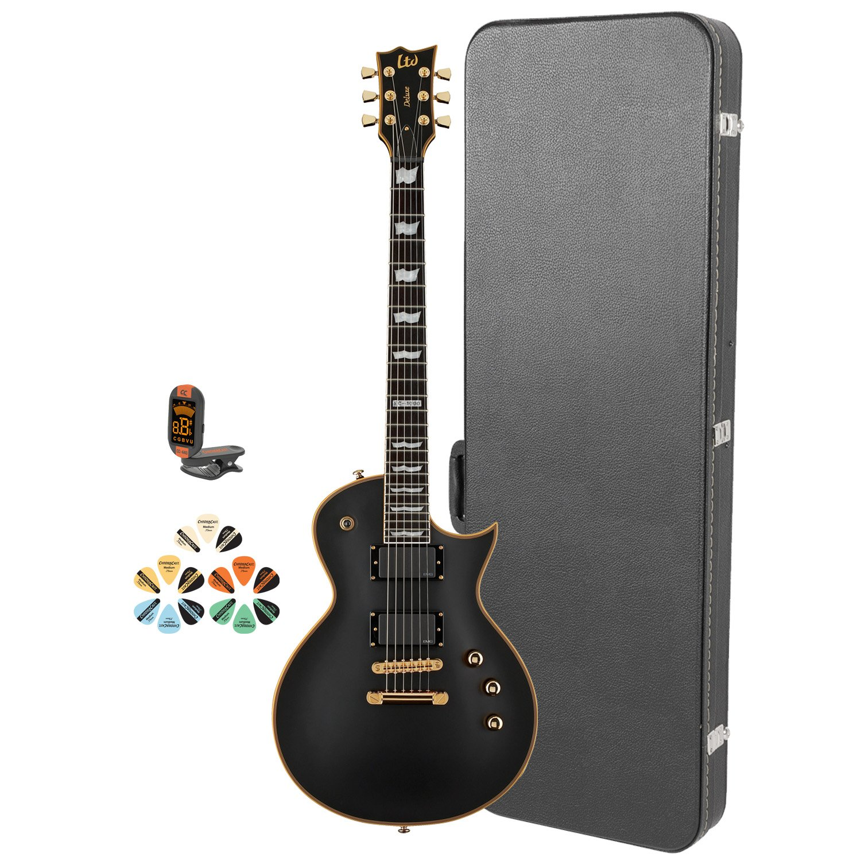 Cheap ESP EC JB-EC-1000-VB-KIT-2 Electric Guitar with Tuner Picks and Chroma Cast Hard Case - Vintage Black Black Friday & Cyber Monday 2019